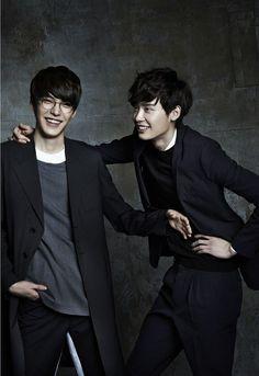 korean, love you guys, kim woo bin ❤, lee jong suk ❤, k-actors