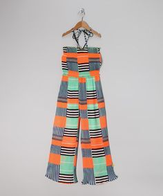 Save Now on this Mint & Coral Stripe Jumpsuit by Peace of Cake on #zulily today!