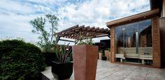 Outdoor wellness sauna house