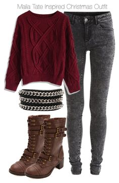"""Teen Wolf - Malia Tate Inspired Christmas Outfit"" by staystronng ❤ liked on Polyvore"