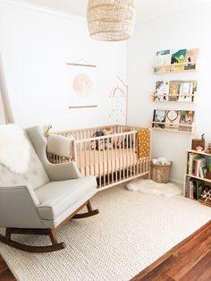 Thistle Harvest: Colette's Nursery – Rugs usa Ikea Crib, Ikea Nursery, Nursery Twins, Nursery Rugs, Nursery Decor, Nursery Ideas, Elephant Nursery, Room Decor, Minimalist Nursery