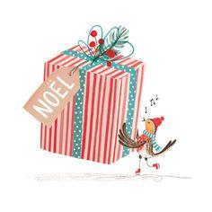 Online portfolio of London based Illustrator, Rachel Stubbs (formerly Rachel Green). Christmas Bird, Christmas Images, Christmas Design, Christmas Greetings, Christmas Crafts, Illustration Noel, Winter Illustration, Christmas Illustration, Theme Noel