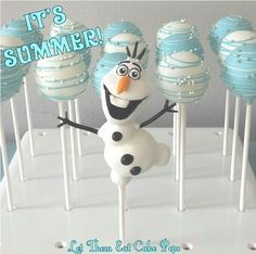 Disney Frozen Olaf cake pop