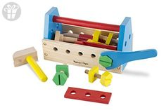 Melissa & Doug Take-Along Tool Kit Wooden Construction Toy (24 pcs) (*Amazon Partner-Link)