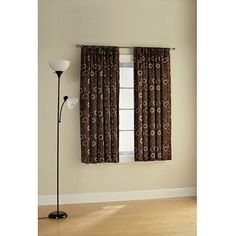 Mainstays Room Darkening Solar Print Curtain Panel Set, Set of 2
