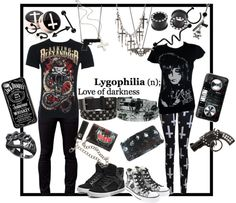 """39 *2 outfit set boys and girls* asking alexandria and black veil brides"" by meow-im-a-kitty ❤ liked on Polyvore"