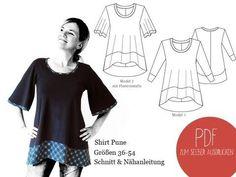 Shirt A-Linie Schnittmuster und Nähanleitung - Schnittmuster und Nähanleitungen bei Makerist