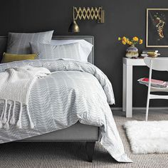 I love the duvet cover (but its West Elm and they don't carry it anymore - hopefully I can find something similar).