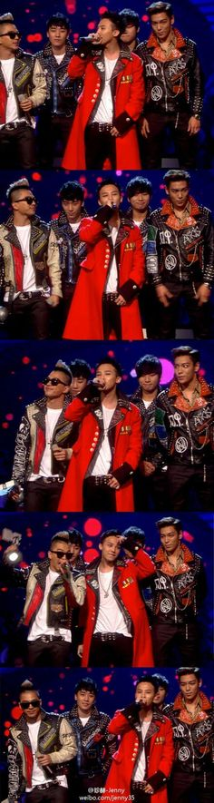 Big Bang wearing their punk leather. I have been fighting with my punks about this. Kpop and punk are quite different. I take a beating but for BB I'll do it even if I know they have no idea who they are wearing which includes bands I actually knew (and some I still know)!! I'd kill for these leathers though, for so many reasons.