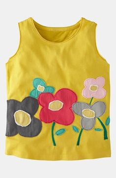 Mini Boden 'Fab Flower' Tank Top (Toddler) | Nordstrom