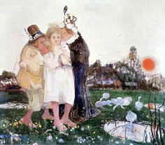 Painting by Witold Wojtkiewicz, 1908  Title: Matchmakers