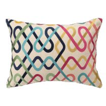 Multicolor Metro Embroidered Lumbar Pillow By D.L. Rhein