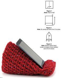 Crochet pattern for tablet wedge