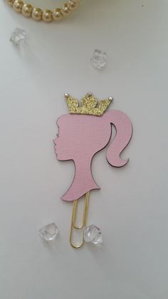 Glam Silhouette Planner Clip, Planner Clip, Paper Clip, Stationery by PoshPiecesbyMelissa on Etsy