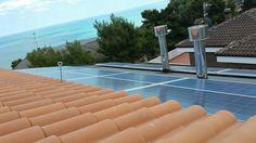 Impianto fotovoltaico ad ANCONA da 4,20 kWp su copertura - 12 moduli MUNCHEN SOLAR in SILICIO POLICRISTALLINO da 250 Wp + 7 moduli SOLAR FRONTIER in CIS da 165 Wp - UTILIZZO di OTTIMIZZATORI di POTENZA (SOLAREDGE)