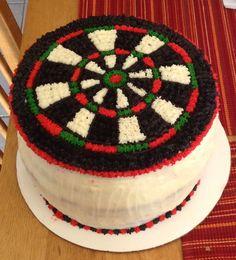 How To Make A Dart Board Birthday Cake