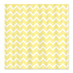 Light Yellow Zigzags. Shower Curtain