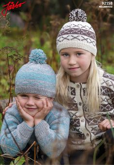 Knitted kid's hats.