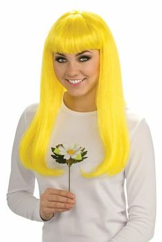 The Smurfs Movie Costume Accessory, Smurfette Wig #prom yellow hairstyles
