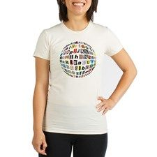 Letters Alphabet af Organic Women's Fitted T-Shirt