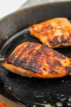 Honey Salmon with Browned Butter Lime Sauce #healthy #easy