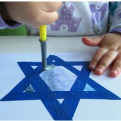 Star of David Hanukkah Craft for your little ones