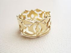 Gold vector ring, Band ring, Vintage ring, Hand-sawn jewelry