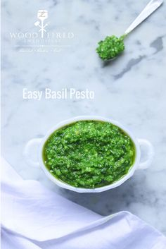 An easy basil pesto recipe from The Wood Fired Enthusiast