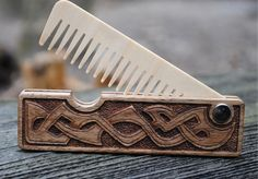 Combs – Men wooden beard hair comb – a unique product by woodcarv on DaWanda