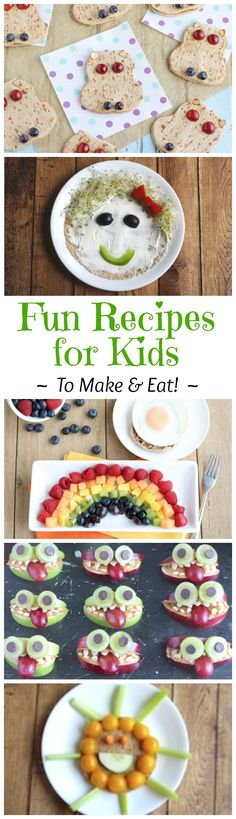 These easy recipes for kids are the perfect springboard to hours of summer fun … and deliciously healthy eating! Adorable ideas and recipes for kids of all ages!   www.TwoHealthyKitchens.com