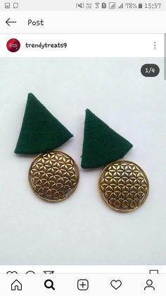 Diy Fabric Jewellery, Fabric Earrings, Thread Jewellery, Handmade Beaded Jewelry, Textile Jewelry, Handmade Jewelry Designs, Embroidery Jewelry, Terracotta Jewellery Designs, Terracota Jewellery