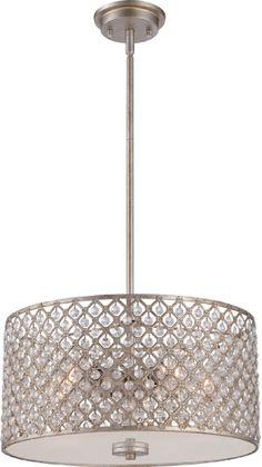 Quoizel CTN2817VG Catherine Vintage Gold Drum Drop Ceiling Light Fixture