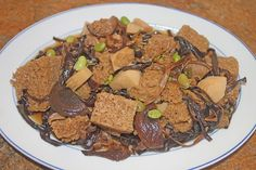 The Grub Files: Cooking with Camissonia: Braised Kau Fu (Wheat Gluten) with Assorted Vegetables