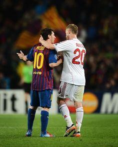 UEFA Champions League: FC Barcelona 3, AC Milan 1. 3 April 2012. Camp Nou. Goals: Messi (11' - PK, 41' - PK), Nocerino (32'), Iniesta (53').