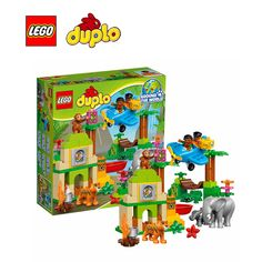 Lego duplo building bricks toy Jungle Building blocks Toy for children LEGC10804