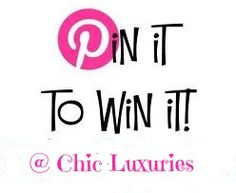 Pin It to Win a $500 goodie box! Details: http://www.chicluxuries.com/2013/06/pin-it-to-win-it.html