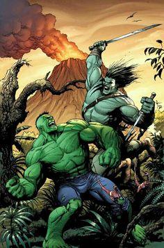 Hulk vs Skarr Marvel