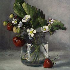 """Daily Paintworks - """"Strawberry Season"""" by Elizabeth Floyd"""