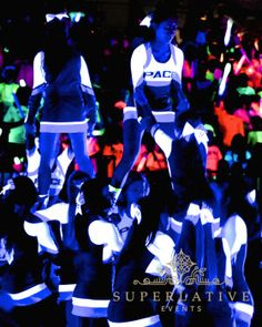 A glow pep rally is the best way to transform your gym for a high school pep rally. Rent your high power blacklights at http://goboprojectorrental.com