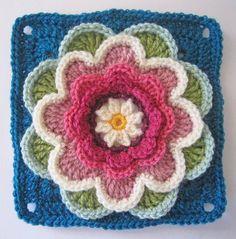 knit & crochet design: Lily Pond CAL - Block Five...free pattern!