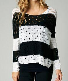 This Black Stripe Advance Sweater - Women by Fox is perfect! #zulilyfinds
