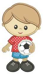 Soccer Boy Applique - 6 Sizes! | What's New | Machine Embroidery Designs | SWAKembroidery.com Embroidalot