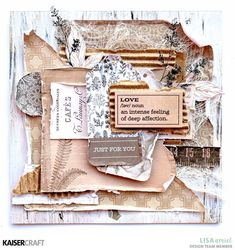 I'm here today to share some cards that I have created using this month's Whisper Collection from Kaisercraft. Square Card, Some Cards, Something Beautiful, Design Crafts, Whisper, Card Stock, Just For You, Paper Crafts, Layouts