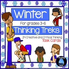 Winter fun! Winter Thinking Treks is a set of 24 TASK CARDS, designed to provide opportunities for higher order thinking. All Winter treks involve discussion and problem solving and are ideal for collaborative learning.