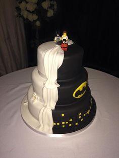 Batman wedding cake half and half