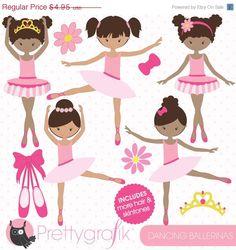 80% OFF SALE Ballerina clipart commercial use, vector graphics, digital clip art, digital image, dancing - CL789