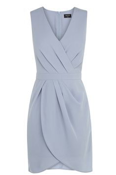 Grey wrap shift dress