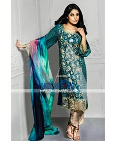 Vaneeza Eid Collection 2015 Silk Chiffon Pakistani Dresses
