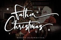 Father Christmas is a charming and elegant handwritten font. It looks stunning on wedding invitations, thank you cards, quotes, greeting... Christmas Fonts, Father Christmas, Holiday Font, Christmas Ad, Handwritten Fonts, All Fonts, Calligraphy Fonts, Script Fonts, Commercial Use Fonts