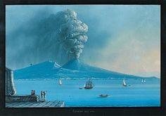 Eruption de 1794. Hauteur : 31,50 Largeur : 45 cm